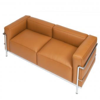 Le Corbusier Two-Seat Sofa LC3