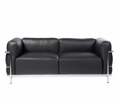 Le Corbusier Zweisitzsofa LC3. Verkauft